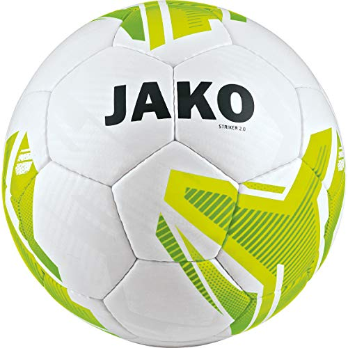 JAKO Striker 2.0 32 Panel, HS, IMS Balón de Entrenamiento, Unisex Adulto, Blanco/Amarillo neón/Verde...