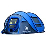 GAZELLE OUTDOOR 4-Person Instant Pop-Up Tent - Automatic Setup in Seconds - Easy