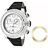 Glam Rock Unisex Quartz Watch With White Dial Analogue Display And Leather Strap 0.96.2309
