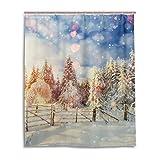 Bad Vorhang für die Dusche 152,4x 182,9cm Sunset Snow natur Landschaft Polyester-Wasserdicht-Badezimmer Vorhang