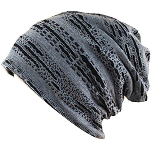 THENICE Unisex cappello lavorato a maglia Cuffia Berretto Cap (grigio)