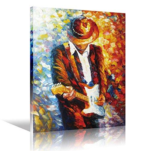 Toile murale Art Rock musique Pop guitariste Guitar Player...