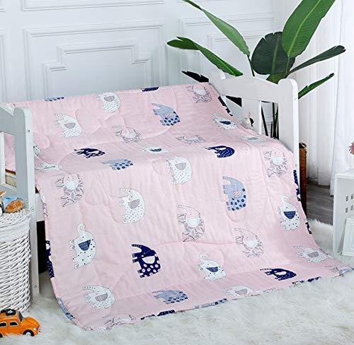 Kühle Frühling und Sommer-Decke, maschinenwaschbare niedliche Elefant Coole Steppdecke, atmungsaktiver Komfort, um empfindliche Kinder zu verhindern, zu lieben Nickerchen Büro Familie Handtuch Decke H