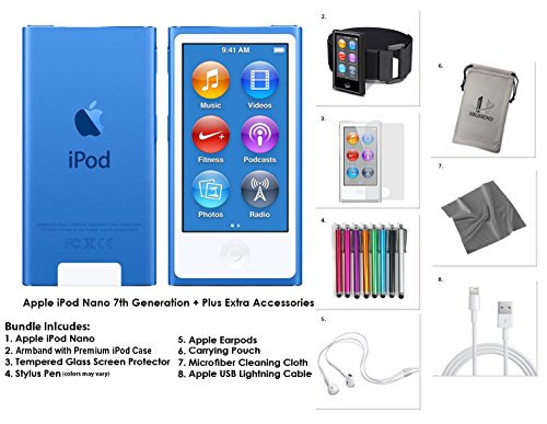 apple-ipod-nano-16gb-blue-extra-accessories-7th-generation-latest-model-july-2015