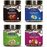 SUN'A'DO Dry Fruits Combo Pack of 4 - Almonds,Cashew, Pistachios & Mixed Nuts- Roasted & Salted(200gm Each)