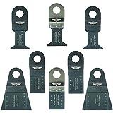 8 x TopsTools RVK8 mezcla de cuchillas para Worx Sonicrafter, Worx 250W, Erbauer multiherramienta accesorios multiusos oscilante