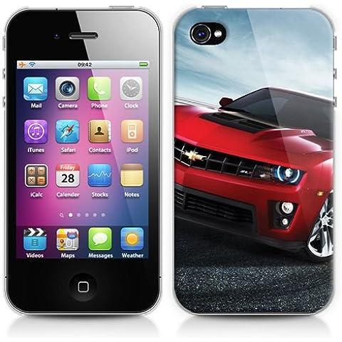 Cover custodia rigida protezione per Apple iPhone 4 o 4s, soggetto: Auto Car racing sport - Racing Chevrolet
