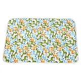 Wickelunterlage Cartoon Baumwolle Wasserdicht Atmungsaktiv Blatt Wickelauflage Windeln Urinal Spiel Cover Baby Matratze Urin (60x90 cm)(Pferd)