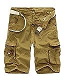 Quge Hombres Militar Laboral Pantalones Cortos Leisure Casual Camuflaje Bermudas Cargo...