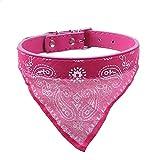 probeninmappx Verstellbarer Hundehalsband Bandana Halstuch für Kätzchen Katze Welpen Leine Krawatte, Pink, 50 * 2 cm