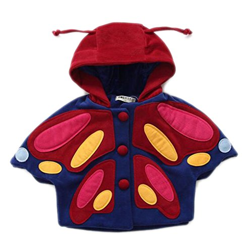 Arrowhunt Baby Mädchen Herbst Winter Cosplay Butterfly Mantel (Baby Baby Kostüme Butterfly)
