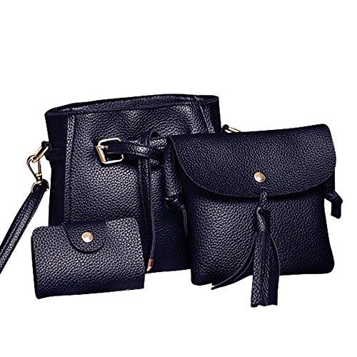 Weibliche Tasche Umhängetasche Brieftasche Vier Sätze DAY.LIN Frauen Vier Set Fashion Handtasche Schultertasche Vier Stücke Einkaufstasche Crossbody Wallet ()
