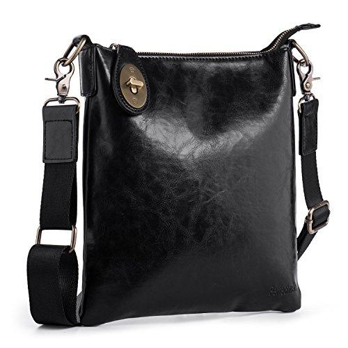 Hengwin borsa a tracolla uomo stile vintage borsello borsa a spalla in pu pelle retro' borsello croce corpo borsa monospalla giornaliera per outdoor lavoro universita shopping