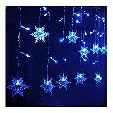 K-Bright LED Lichterkette Vorhang Lichtervorhang LED Curtain Light 3.5M / 138in 96 LED EU Stecker 220V Low Voltage Weihnachtslichterkette Weihnachtsbeleuchtung Innen-/Außen Dekobeleuchtung für Fest Weihnachtsbaum Halloween Feiertag Party Hochzeit Garten Wohnzimmer IP44
