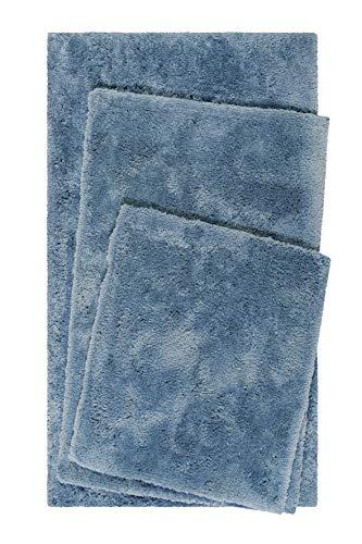 Homie Living Badteppich, Badematte I kuscheliger Flauschiger weicher Flor l rutschfest und Waschbar I Porto Azzurro I (60 x 100 cm, Blau)
