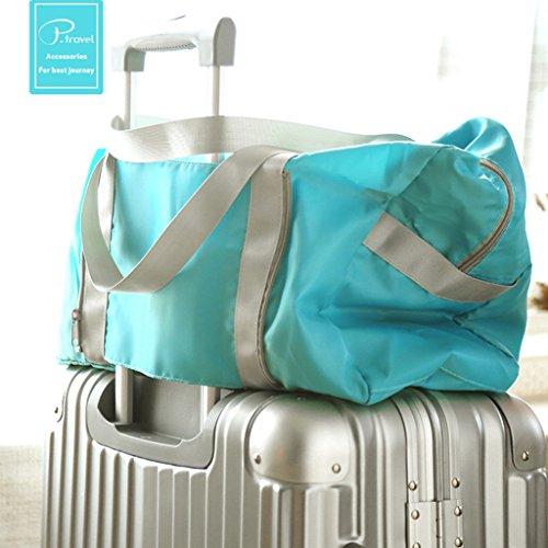 Sumolux Reisetasche Sporttasche Handgepäck für Sport Reise am Wochenend Urlaub Blau