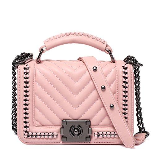 Borsa a tracolla catena/Pacchetto signora tracolla/Joker moda borsa-rosa