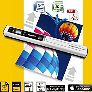 Everest® 3rd Generation HandyScan Wireless Wifi Portable Handheld Colour Scanner 900 DPI With OCR Software, Original Invention Manufacturer + Wifi Features
