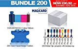 Magicard Confezione di 200targhette di Premium