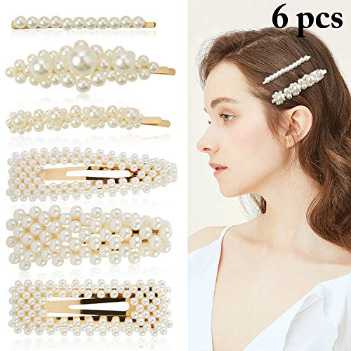 ZOYLINK 6 STÜCKE Künstliche Perlen Haarnadeln Haarspangen Damen Haarschmuck Haarklammer für Hochzeit Engagement, perfektes Geschenk für Frauen zum Geburtstag...