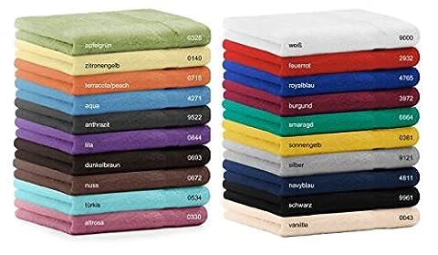Betz Gästetuch Größe 30x50 cm 100 % Baumwolle Gästehandtuch Handtuch Set Premium Farbe silber