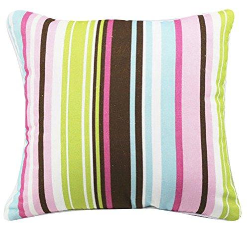 geometrico motivo stampato cuscino Chezmax con cerniera in cotone poliestere throw Pillow case Sham Pillowslip (4 Pezzo Stampato Inserire)