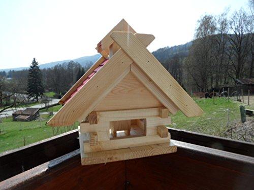 arbrikadrex-futtersilo-futterhaus-schreinerware-holz-vogelfutter-vogelhaus-vogelvilla-vogel-blockhaus-futterspeicher-xl-rot-oder-schwarz-xl-rot-auch-zum-aufhaengen-balkon-2