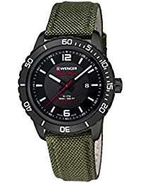 Wenger Unisex-Armbanduhr 01.0851.125 ROADSTER BLACK NIGHT Analog Quarz Nylon 01.0851.125 ROADSTER BLACK NIGHT