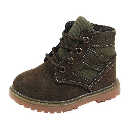 Btruely Kinder Sneaker Mode Baby Schuhe Winter Dick Schneeschuhe Jungen Mädchen Beiläufig Kleinkind Schuhe (25, Armee Grün)