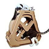 Zhongsufei Riesenrad Cat Scratch Plate Gewölbte Katze Klettern Frame Nest Drehen Ideen mit Cat Scratch Board Running Machine