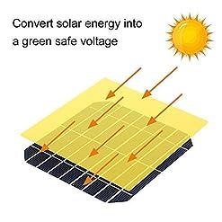 KKmoon Pannello Solare monocristallino da 50 W 18 V, caricabatteria IP67 Impermeabile ad Alta velocità di conversione del 25%, per Camper RV