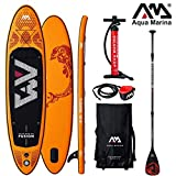 Aqua Marina Fusion 2019 Sup Board Hinchable Stand Up Paddle Tabla de Surf Remos