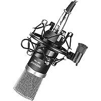 Neewer NW-700 - Juegoprofesional de micrófono condensador NW-700+ soporte antigolpes + cubierta de espuma antipop + cable de audio (negro)