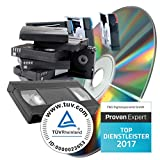 Videokassetten professionell digitalisieren lassen, Formate: VHS, S-VHS, Hi8, Video8, Digital8, MiniDV (90min Kassette)