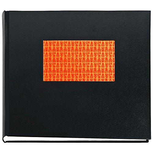 Japan Fotoalbum KOTOBUKI Schwarz Buchalbum mit Yuzen Japanpapier Motiv japanische Zeichen für...