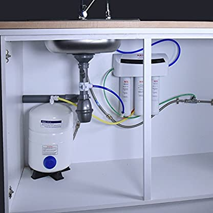 51eB2sirH2L. SS416  - AEG AEGRO Equipo de ósmosis inversa para la filtración de agua potable que se puede instalar directamente debajo del fregadero, Blanco