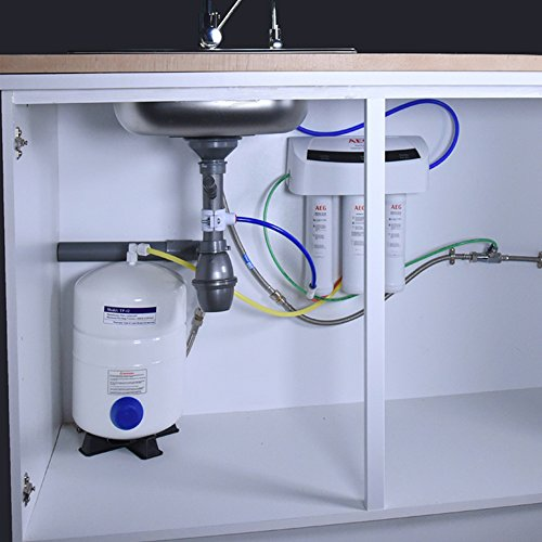 AEG - Osmoseur d'eau. Système d'osmose inverse pour filtration d'eau sous évier, Blanc