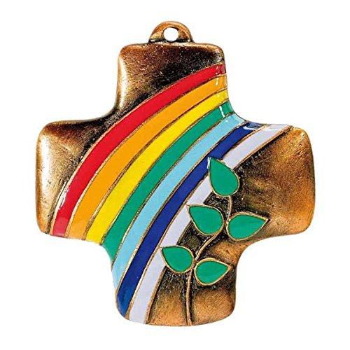 """Preisvergleich Produktbild Wandkreuz aus Bronze """"Zeichen der Liebe"""": koloriert"""