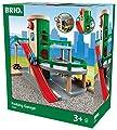 BRIO World 33204 Parkhaus, Straßen und Schienen - Parkgarage mit Aufzug, steiler Ausfahrt und Tankstelle - Kleinkinderspielzeug empfohlen für Kinder ab 3 Jahren