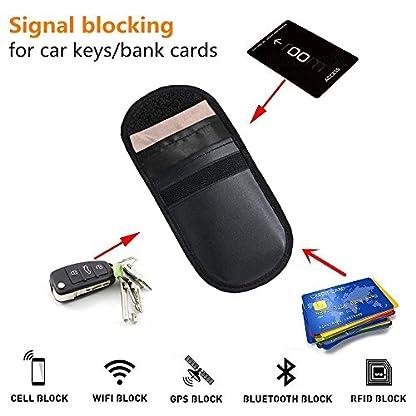Keyaway-2-x-Autoschlssel-Signalblocker-Schutzhllen-Signalblockierung-RFIDWiFiGSMLTENFC-Signalblockierende-Brieftasche-fr-Autoschlssel-Mobiltelefone