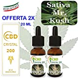 2 x E-Líquido Sabor Sativa Master khus 200mg. Liquido para cigarrillo electronico. SIN NICOTINA.