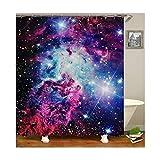 Knbob Duschvorhang Hipster Galaktisch Stil 20 Shower Curtain 165X180CM mit Vorhanghaken Wohnaccessoires