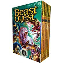 Beast Quest Pack: Series 4, 6 books, RRP £29.94 (Blaze The Ice Dragon, Equinus The Spirit Horse, Luna The Moon Wolf, Nixa The Death Bringer, Rashouk The Cave Troll, Stealth The Ghost Panther). (Beast Quest)