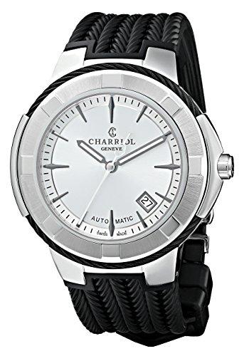 CHARRIOL CELTIC XL CE443AB.173.003 GENTS BLACK RUBBER 44MM AUTOMATIC DATE...