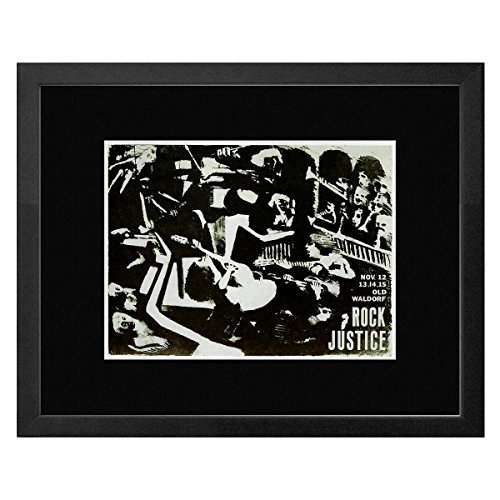 Stick It On Your Wall Rock Justice-Old Waldorf San Francisco 1980gerahmtes Mini Poster-28,5x 23,5cm -