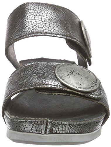 Ca'Shott 13040, Sandales à plateforme femme Argent - Silber (C.Tibet silver770)