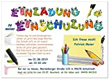 Lustige Einladung zur Einschulung Memozettel 20 Karten 17 x 12 cm