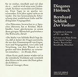 Der Vorleser (Diogenes H?rbuch)