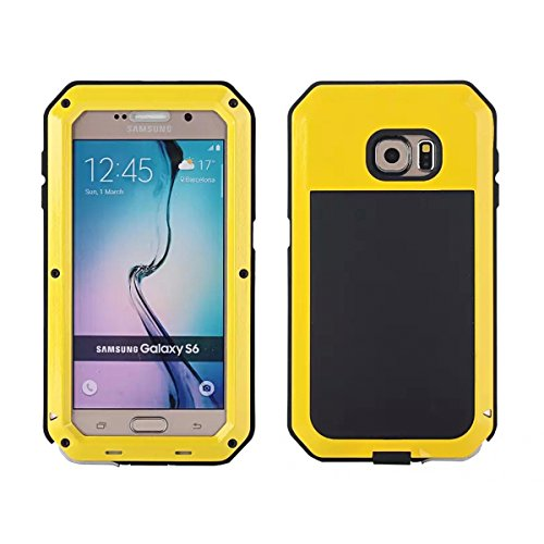 Wendapai Samsung Galaxy S6 G9200 wasserdicht Hülle, IP-68 wasserdicht stoßfest Dust Proof Snow Proof Full Body Schutz Hülle Hülle zum Samsung Galaxy S6 G9200 Screen - Yellow