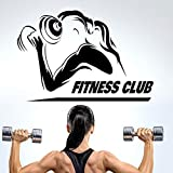 zaosan Wandaufkleber Hanteln Gym Name Aufkleber Mädchen Fitness Crossfit Aufkleber Bodybuilding...